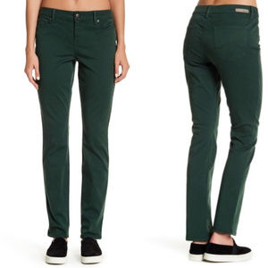 Level 99 Lily Skinny Straight Jeans Green, Size 10